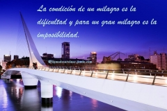 The condition of a miracle is the difficulty, and for a great miracle is the impossibility