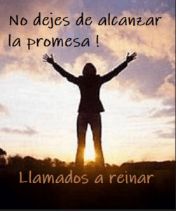 No dejes de alcanzar la promesa